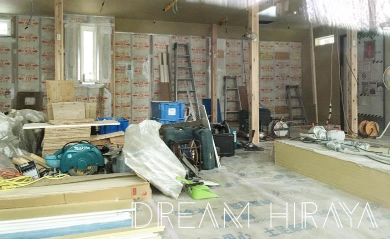 ◆積水ハウスの平屋!木工事!壁補強・断熱材・石膏ボード・床暖房・フローリング施工!◆