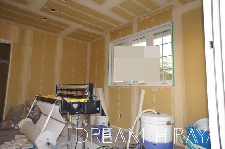 ◆積水ハウスでおしゃれな平屋を新築!着工67日目!内装工事!クロス下地パテ処理!◆